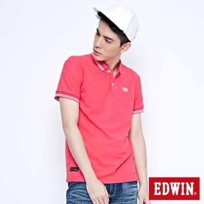 EDWIN POLO衫 簡潔都會POLO衫-男-桃紅色