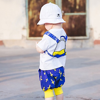 Baby unicorn 白色手繪背包短袖上衣