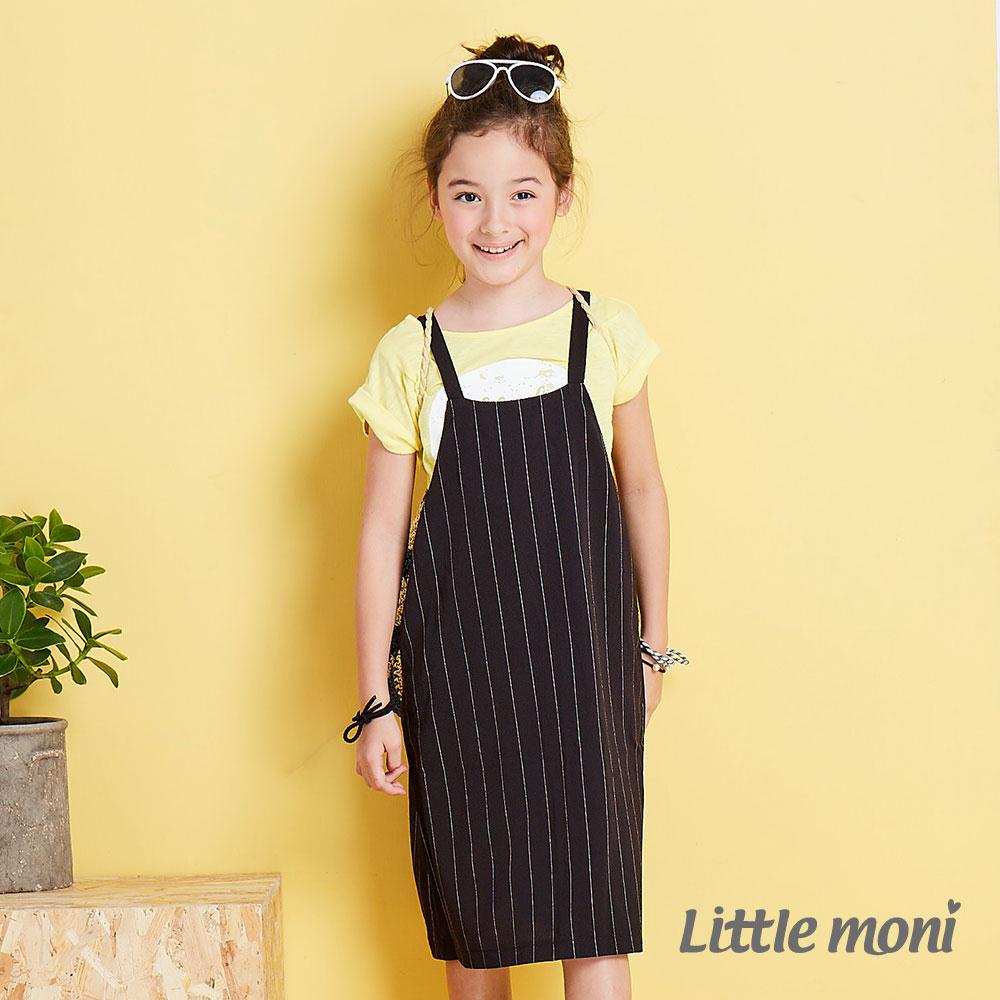Little moni 經典條紋吊帶洋裝