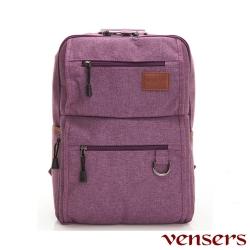 【Vensers】簡約丹寧牛仔後背包(R00066102紫色)