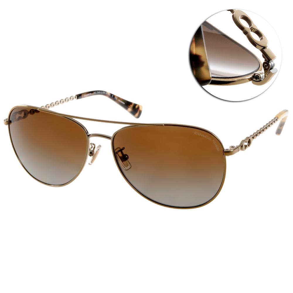 COACH太陽眼鏡 典雅飛官款/金-棕#COS7045 9190T5 @ Y!購物