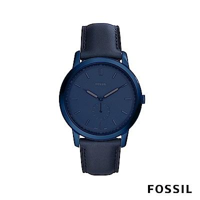 FOSSIL  THE MINIMALIST 極薄款男錶-午夜藍