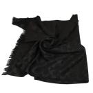 COACH C LOGO 流蘇長披巾(黑色)