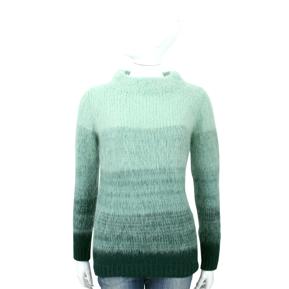 Max Mara-WEEKEND 綠色漸層羊毛長袖上衣