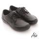 A.S.O 學生鞋款 全真皮素面綁帶氣墊鞋 黑 product thumbnail 1