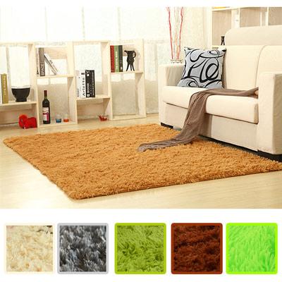 幸福揚邑 舒壓長毛羊絲絨超軟防滑吸水地毯-80x160cm