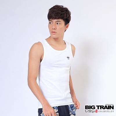 BIG TRAIN 抽針提花背心<b>1</b>件包-男-白色