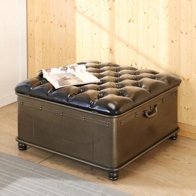 BuyJM復古鐵製方形大掀蓋沙發椅/掀蓋椅/寬80公分-免組裝