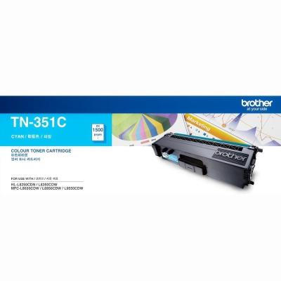 【福利品】Brother TN-351C 原廠藍色碳粉匣