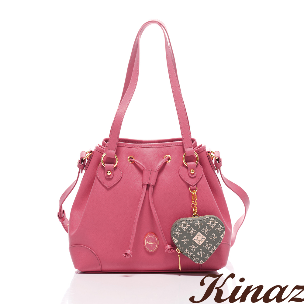 KINAZ - Dizzying糖果色天空系列~純淨夢遊多Way包-薔薇粉