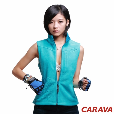 CARAVA《女款刷毛背心》(藍)