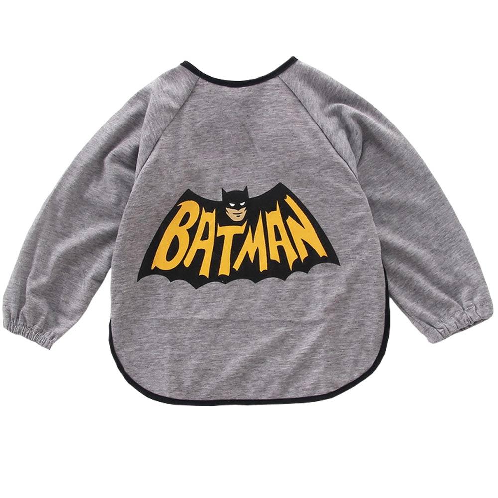 Baby unicorn 灰色蝙蝠俠造型長袖圍兜