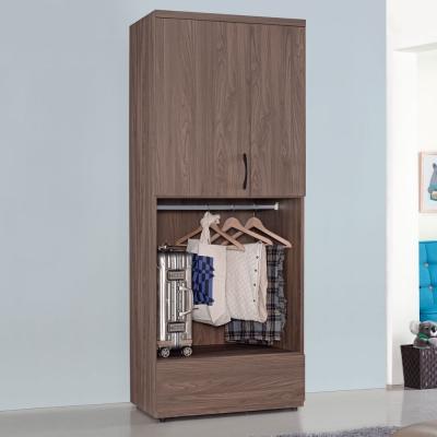 Homelike 克拉2.7x7尺雙吊衣櫃-81x57x203cm