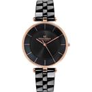 Max Max   自信簡約美學陶瓷腕錶-黑(MAS5132-1)/40mm