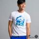 空 BLUE WAY 沖浪印花短袖T恤-白色