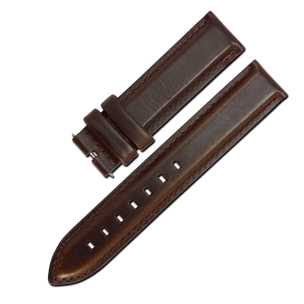 Watchband /DW 經典復刻版牛皮替用錶帶-深咖啡色