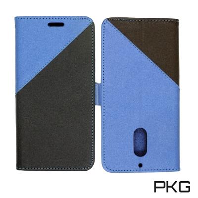 【PKG】Nokia 6 側翻保護殼(側翻護套-藍)