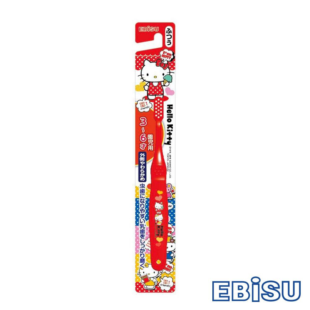 日本EBISU-Hello Kitty 3~6歲兒童牙刷 B-S20-顏色隨機