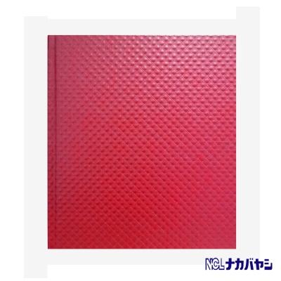 日本 Nakabayashi 自黏相本 珠光浮雕系列內頁黑 (紅)