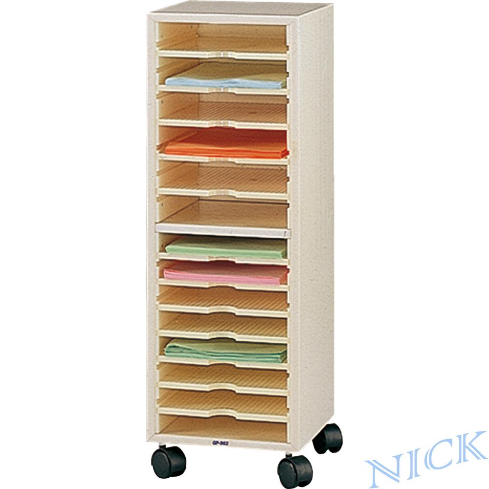 NICK OP單排南亞舒美塑鋼公文櫃(十四層)