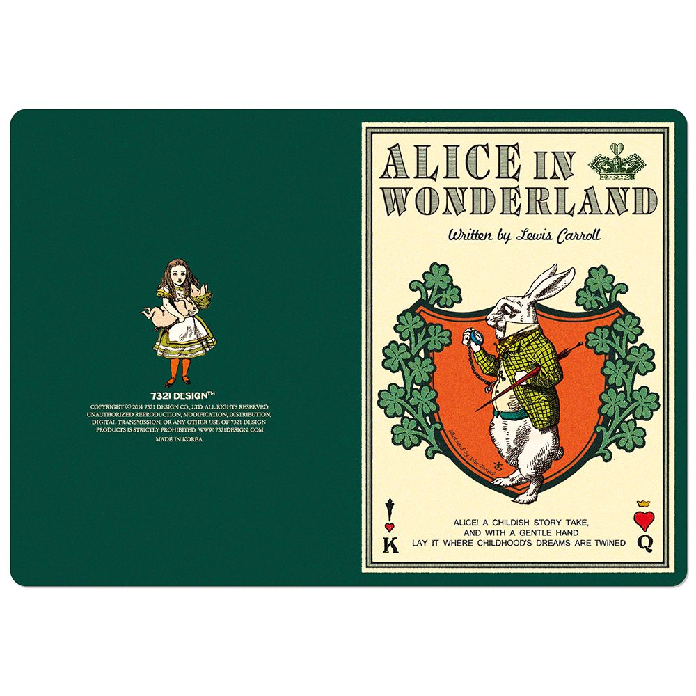 7321Design愛麗絲VG復古童話萬用卡-白兔先生
