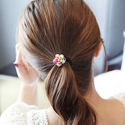 【Hera】赫拉 山茶花花朵彈力髮圈彩色