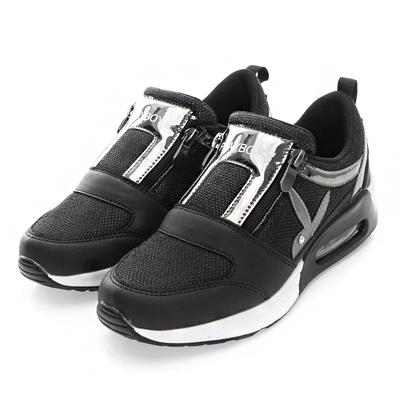 PLAYBOY 強勢推薦  亮蔥光感氣墊運動鞋-黑(女)