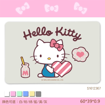 Hello-Kitty珪藻土吸水地墊-彩印-甜蜜早