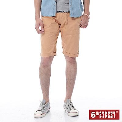 5th STREET 街霸袋蓋休閒短褲-男-黃褐