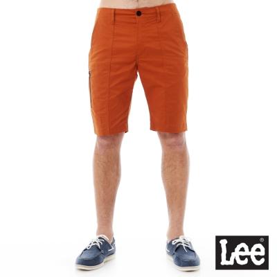 Lee Urban Riders 休閒素色短褲-男款-橘色