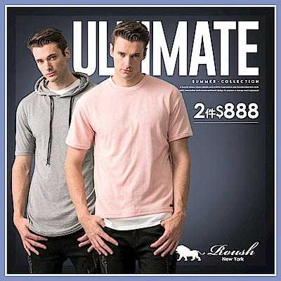 ROUSH男/女熱銷厚棉大學TEE、帽TEE、POLO衫.襯衫.下著 任2件$888A區