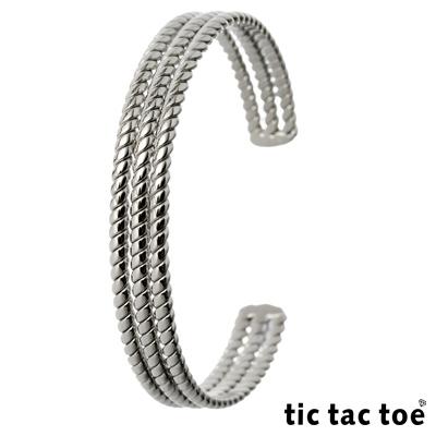 tic tac toe 白鋼手環系列-編織