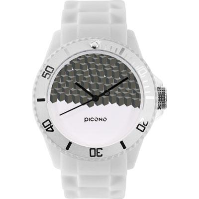 PICONO 繽紛主題 - 方塊遊樂場系列手錶 - 白/40mm