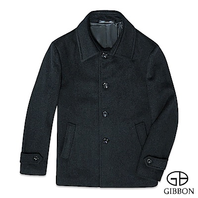 GIBBON 極簡舒適羊毛大衣外套‧深灰M-3L
