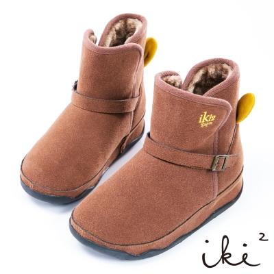 iki2俏皮咕妮兔 冬日機能保暖雪靴-咖