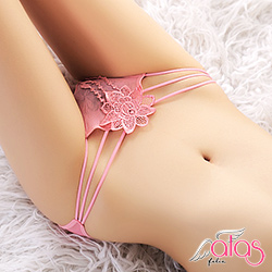 三角內褲 超低腰花魁滑絲性感內褲 (粉色) alas