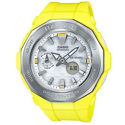 BABY-G 卡西歐海灘豪華露營概念休閒錶(BGA-225-9A)-黃/45.5mm