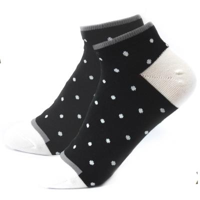 TiNyHouSe 舒適襪系列 乾爽透氣超短襪 黑色白點M號2雙組