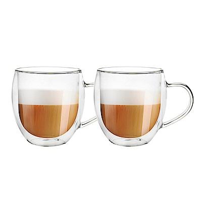 FUSHIMA富島 雙層耐熱玻璃杯540ML(把手)*2入