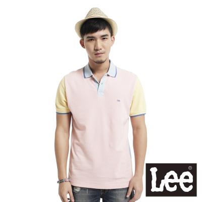 Lee-短袖POLO-色塊拼接網眼-男款-多色