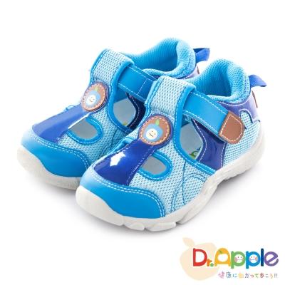 Dr. Apple 機能童鞋 微笑蘋果經典涼鞋款 藍