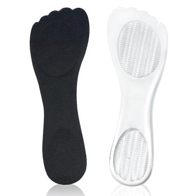 足的美形  晶透系列-腳ㄚ型矽膠7分墊(2雙)