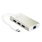 j5create USB Type-C 超高速外接網路卡+集線器-JCH471