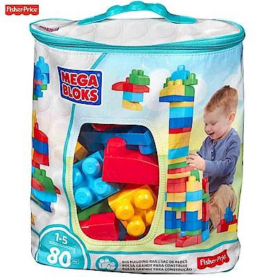 MEGA-BLOKS-美高80片積木袋-藍-送-C