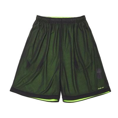 FIVE UP(男)- 雙面穿吸排籃球褲-黑螢綠
