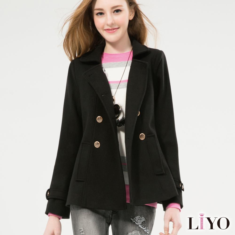 外套英倫風雙排扣顯瘦軍裝短版西裝大衣 S-XL LIYO理優