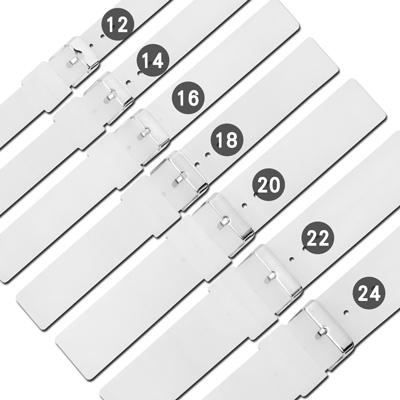 Watchband / 舒適耐用輕便運動型矽膠錶帶-半透明白色