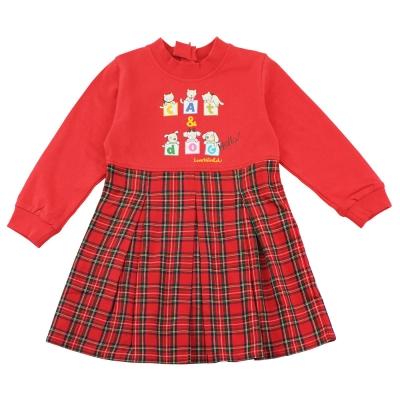 愛的世界 MYBEAR 彈性圓領英格蘭連衣裙/6歲