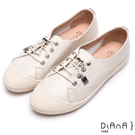 DIANA 漫步雲端焦糖美人款--免綁帶超柔軟真皮休閒鞋 – 米白