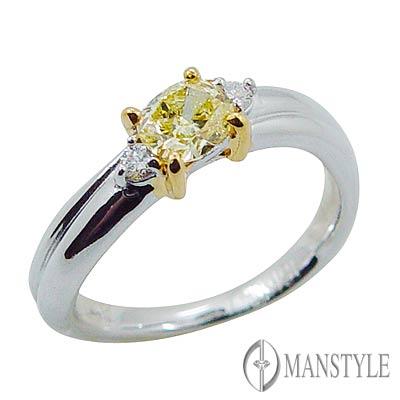 MANSTYLE DIAMOND「愛的金彩」0.47ct 花式切割鑽戒
